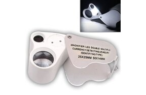 JEWELERY MAGNIFIER WITH LED & UV LIGHT